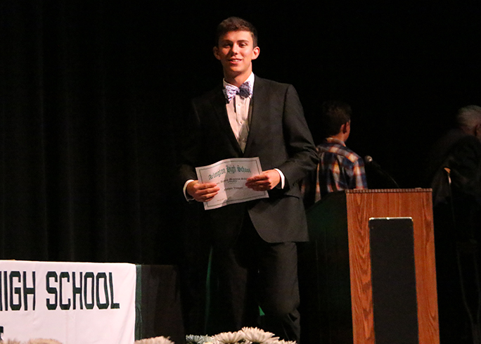 Senior receives nine scholarships in one night