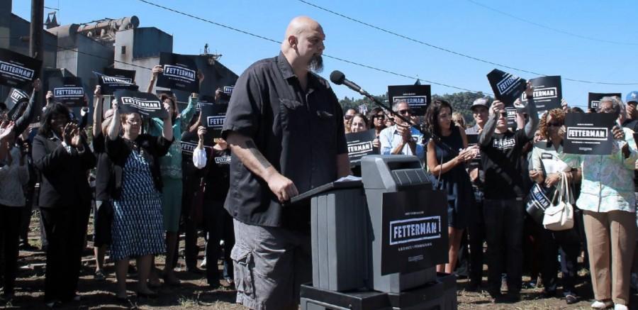 John Fetterman, mayor of Braddock, Pa., is running for senate after being inspired by Bernie Sanders' presidential campaign.