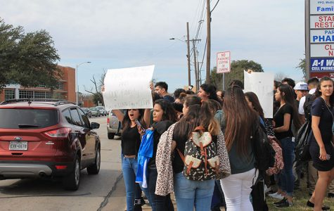 Students walk out to protest for Hispanic rights