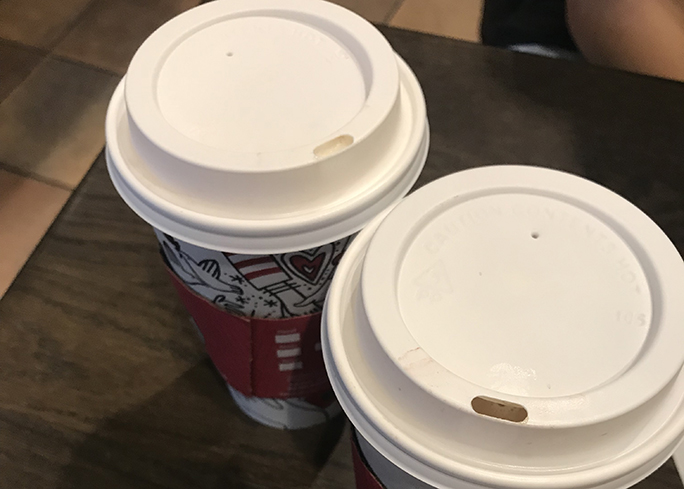 Starbucks released two seasonal drinks just in time for the holidays, the Toasted White Chocolate Mocha and the Chestnut Praline Chai Tea Latte.