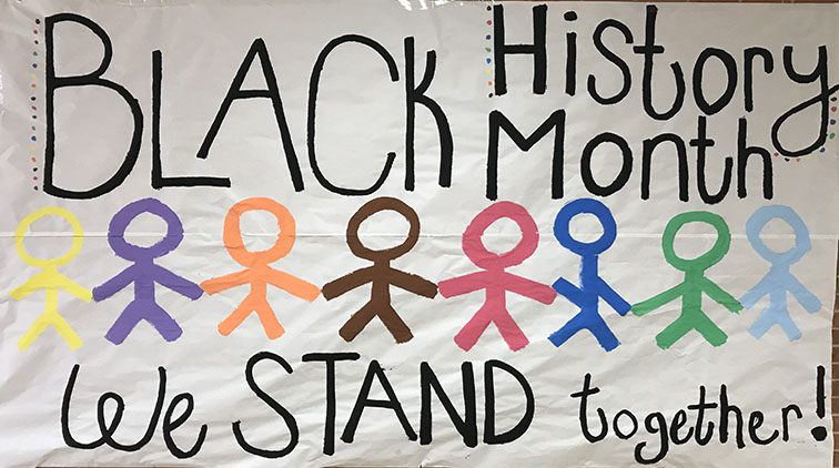 Celebrating black excellence on campus in honor of Black History Month