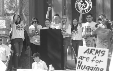 Two Paschal High School students, Lucy Ariole and Lillian Scott, organized the March 24