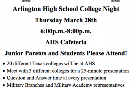 Juniors now's the time to think about college! College Night March 28