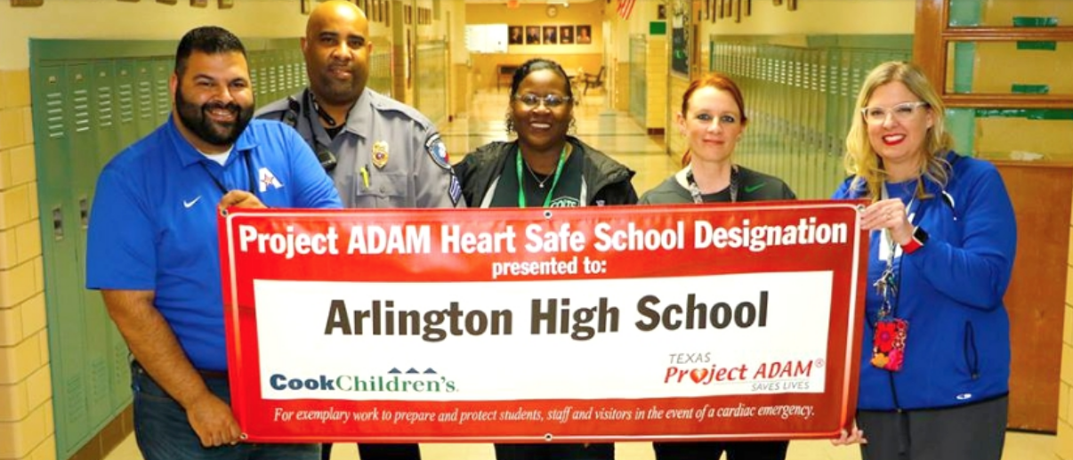 Arlington High School has recently become one of 11 schools in the district to obtain the certification of becoming a Project ADAM Heart Safe School.