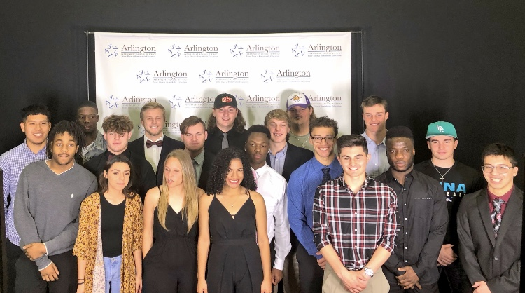 A record breaking 21 athletes from Arlington High signed to play college sports on National Signing Day. This group of 21 athletes from Arlington High was the 6th largest group of signees in the Dallas-Fort Worth Metroplex, breaking the school's record.