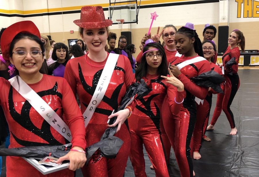 Colorguard places in competition for first time in school's history