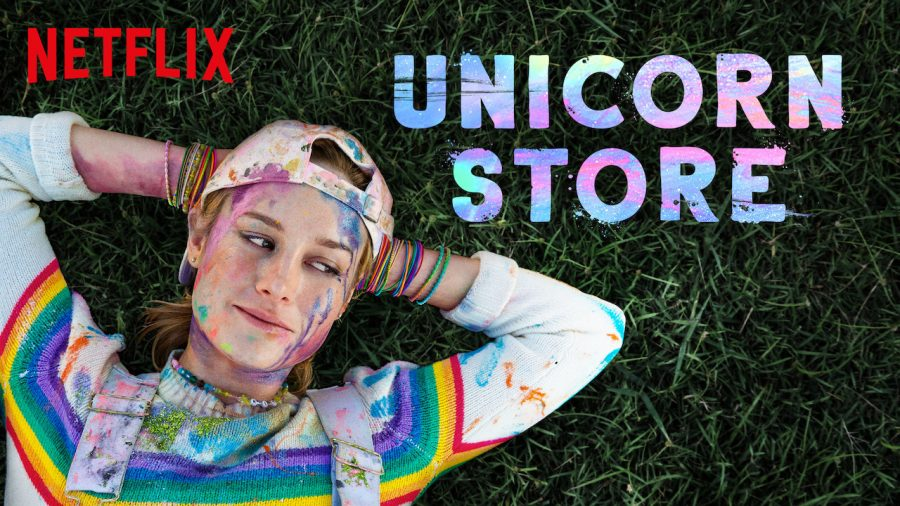 Netflix%27s+recently+released+movie+%22Unicorn+Store%22+features+Brie+Larson%2C+of+%22Captain+Marvel%22+fame%2C+as+a+whimsical+painter+who+fails+out+of+art+school%2C+takes+a+humdrum+office+job+snd+then+mysteriously+gets+a+chance+to+fulfill+her+lifelong+dream+of+adopting+a+unicorn.